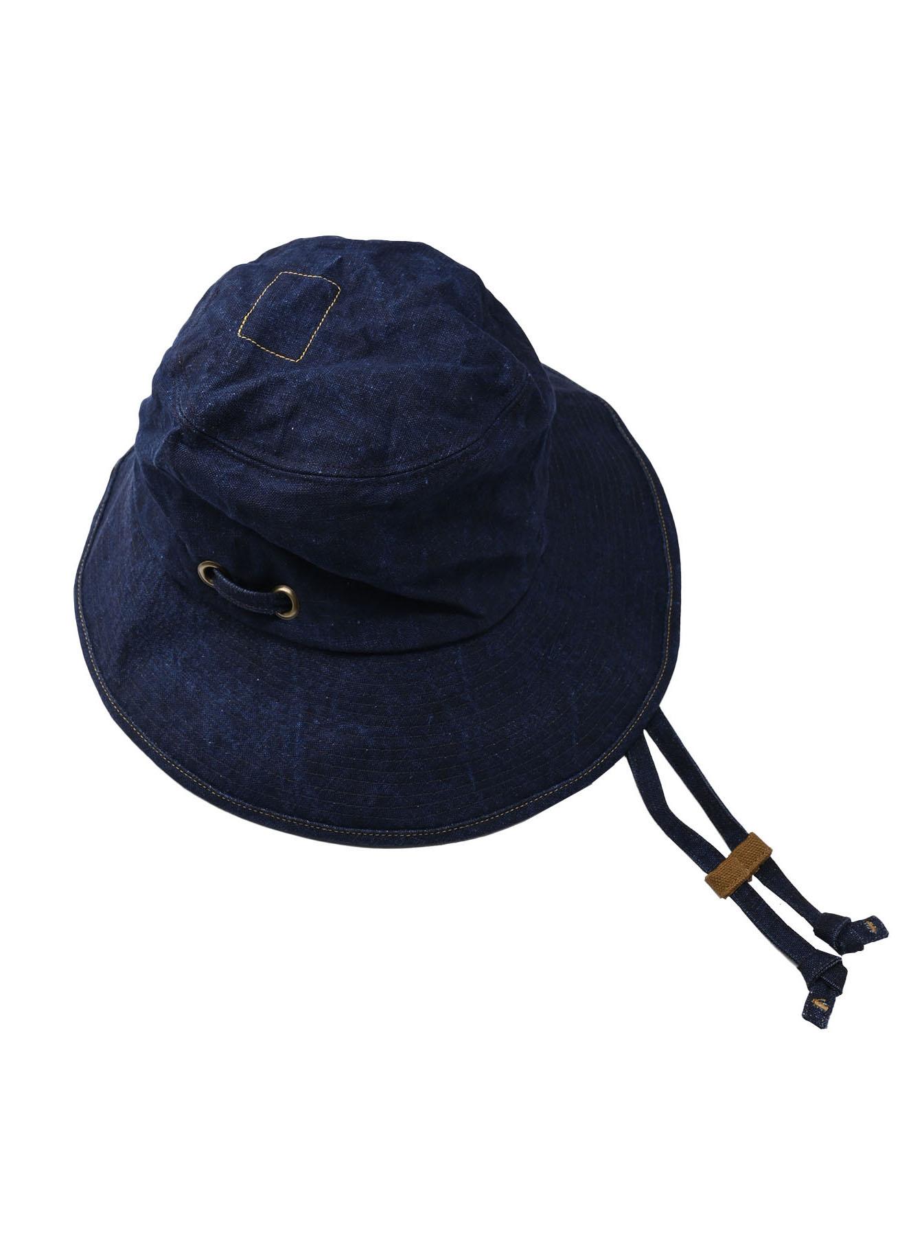 Indigo Linen Duck Sail Hat (0421)-1