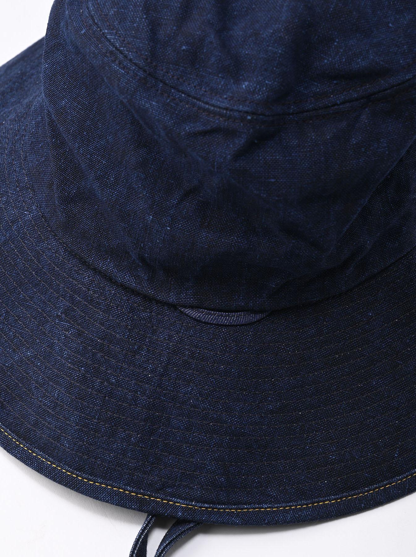 Indigo Linen Duck Sail Hat (0421)-3