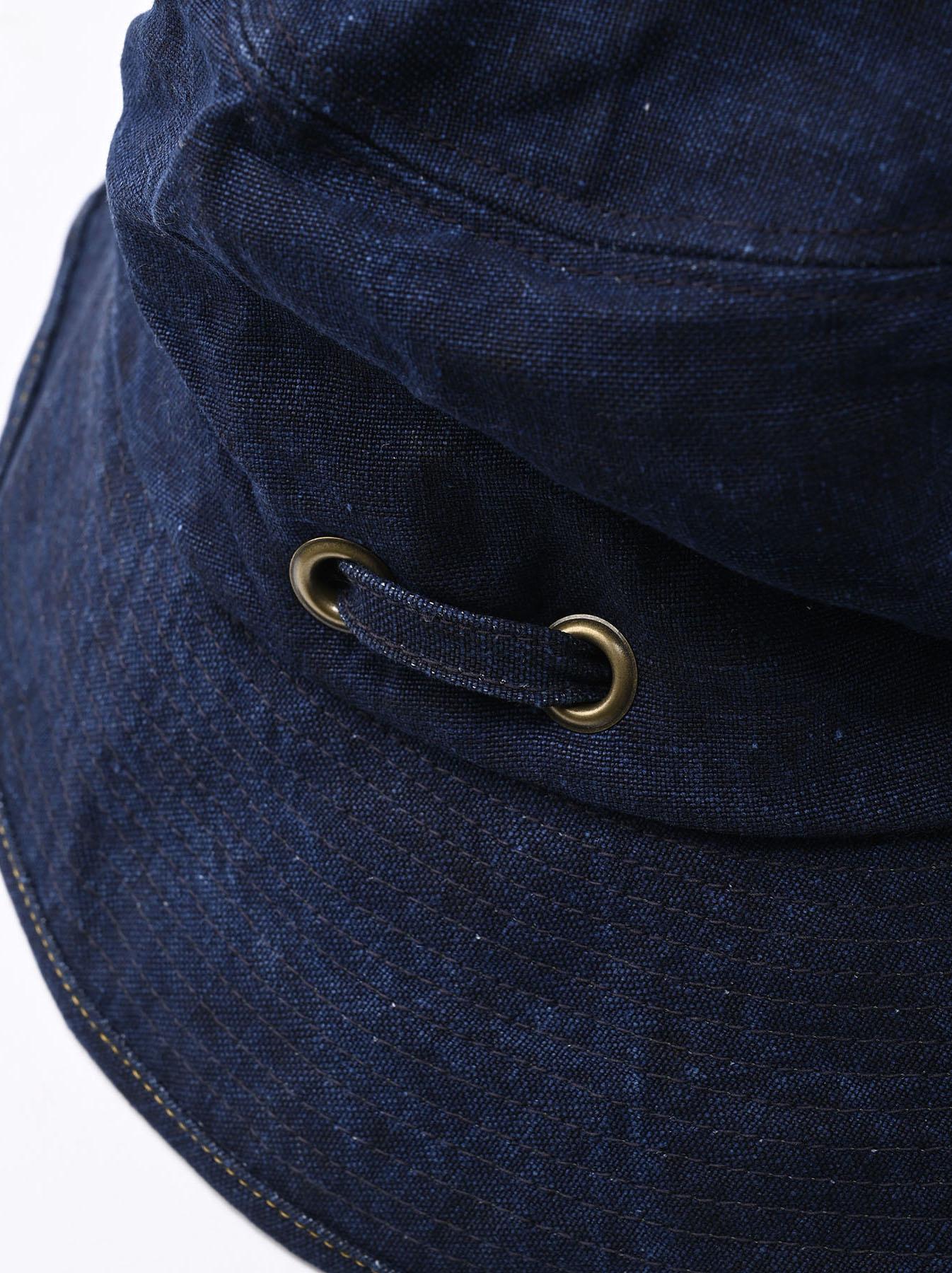 Indigo Linen Duck Sail Hat (0421)-4