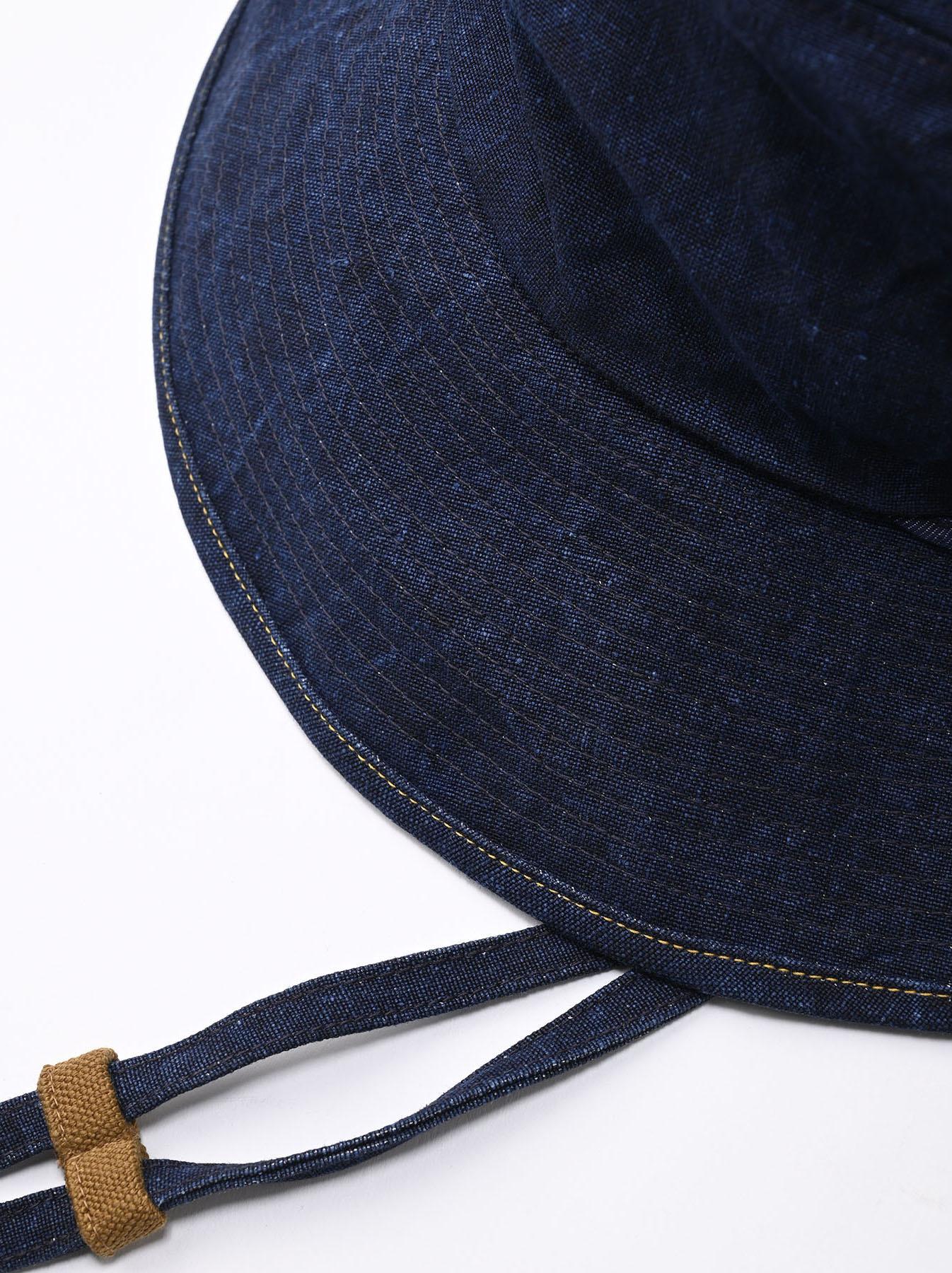 Indigo Linen Duck Sail Hat (0421)-5