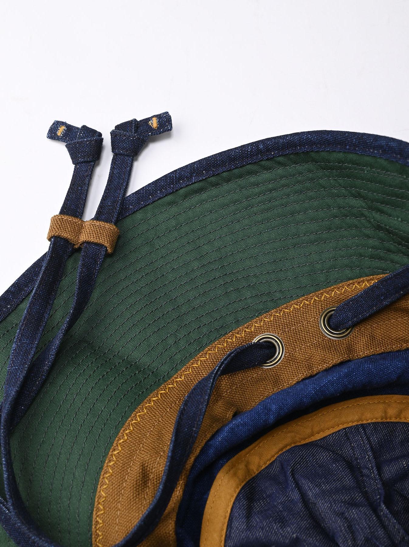 Indigo Linen Duck Sail Hat (0421)-7