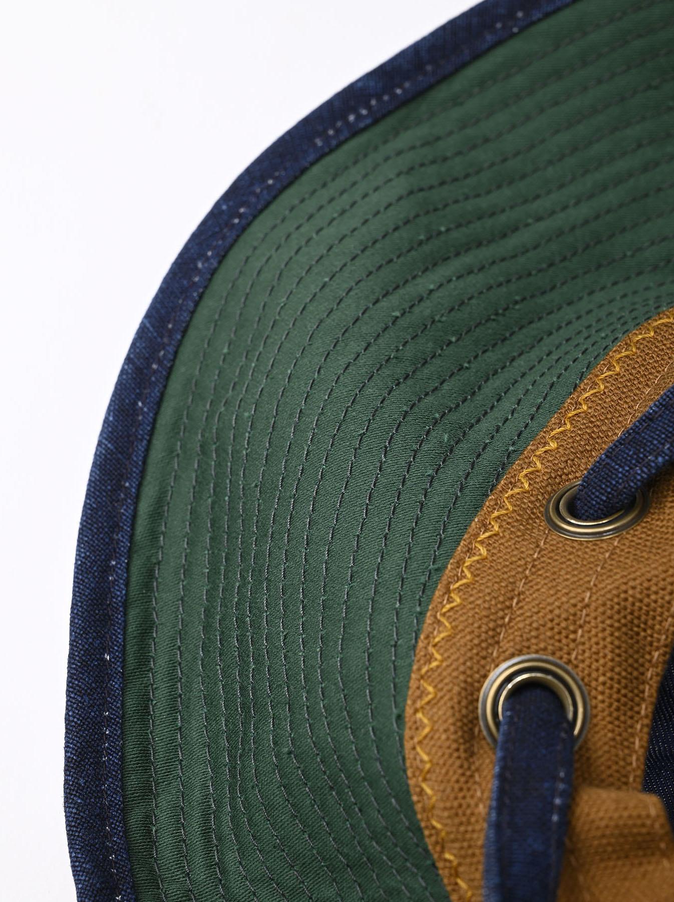 Indigo Linen Duck Sail Hat (0421)-8