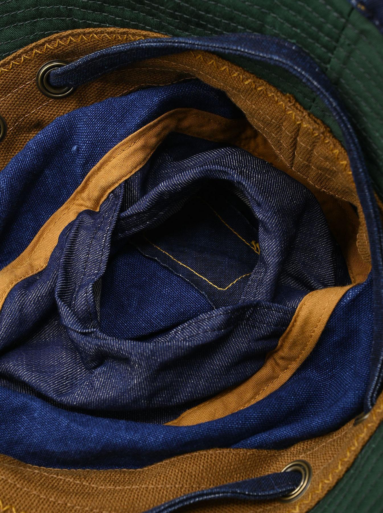Indigo Linen Duck Sail Hat (0421)-9