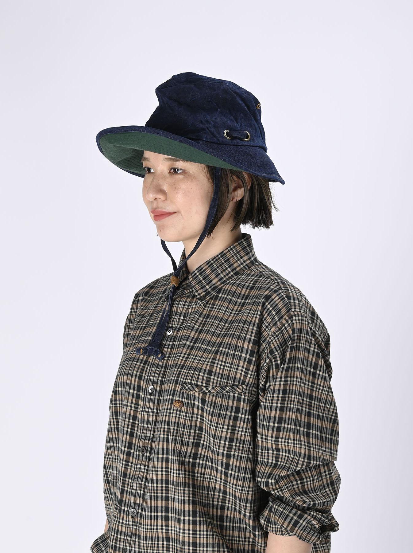 Indigo Linen Duck Sail Hat (0421)-2