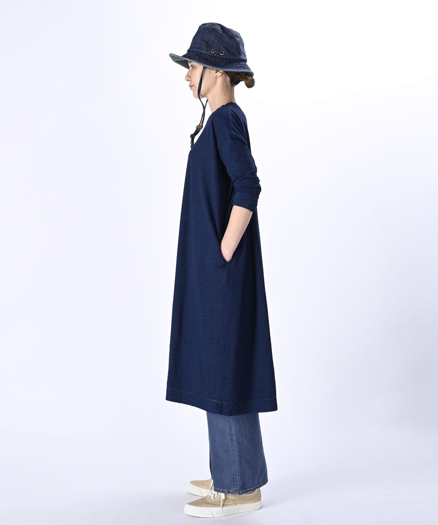 Indigo Zimbabwe Cotton Umahiko Dress (0421)-3