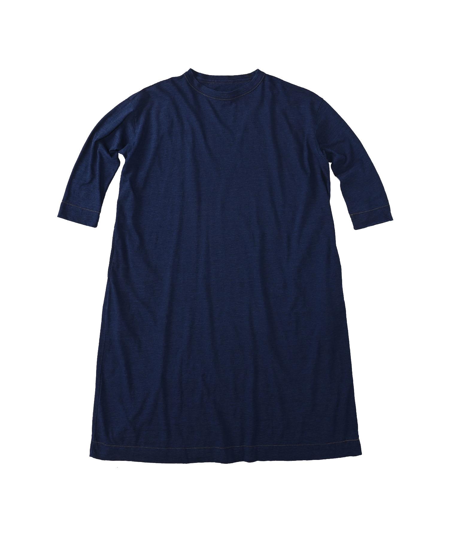 Indigo Zimbabwe Cotton Umahiko Dress (0421)-1