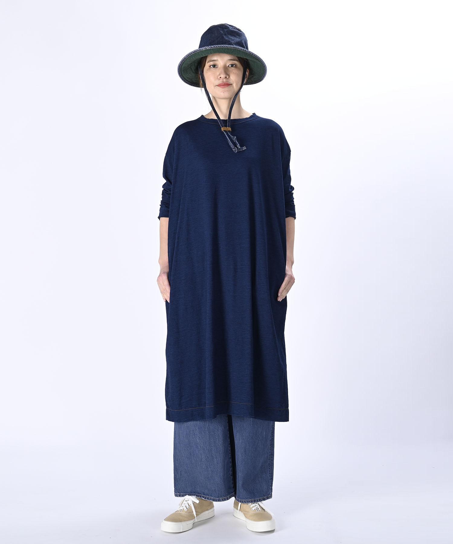 Indigo Zimbabwe Cotton Umahiko Dress (0421)-2