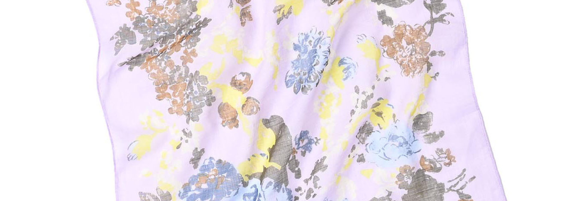 Gauze Flower Print Bandana (0421)