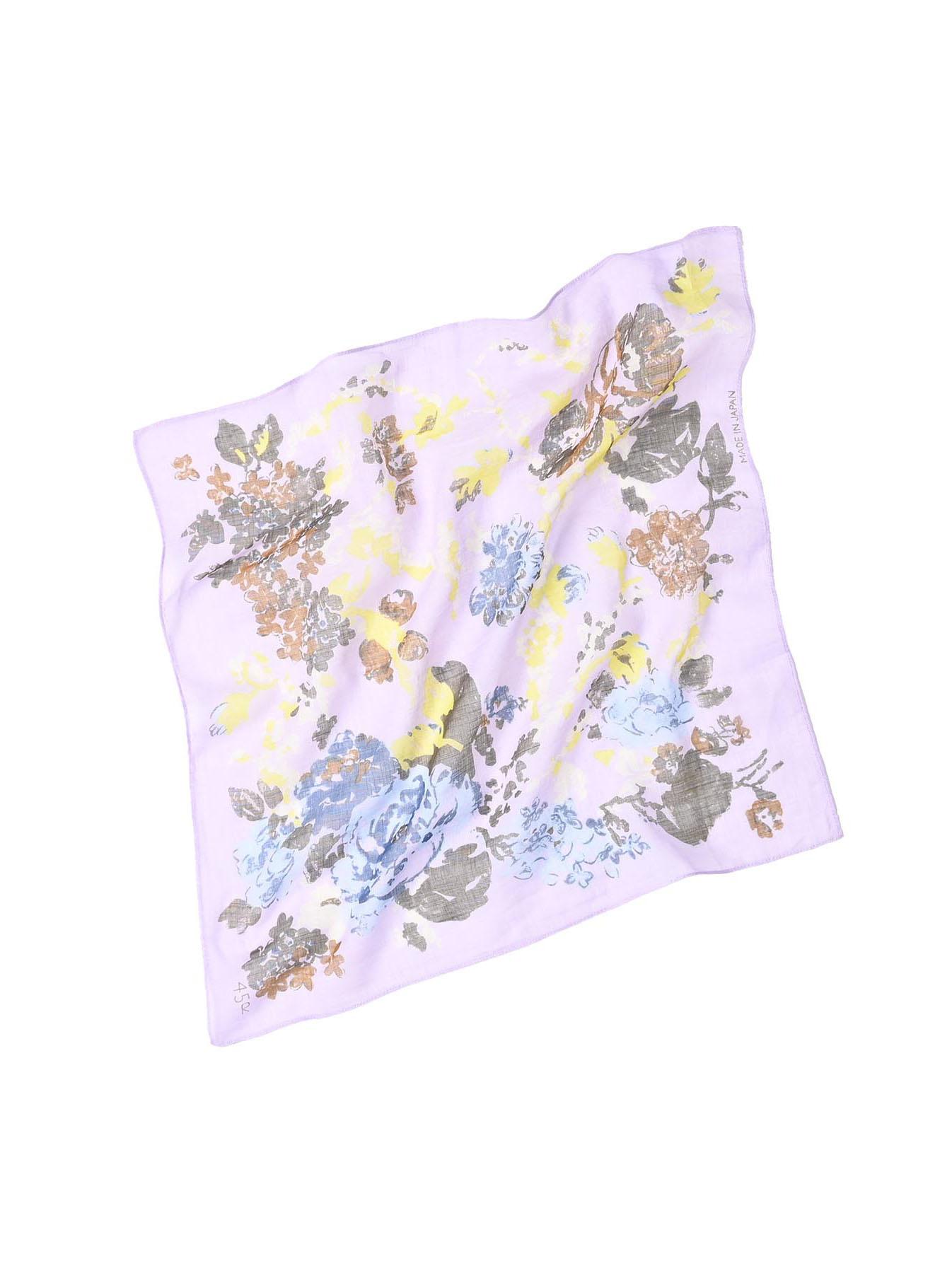 Gauze Flower Print Bandana (0421)-1