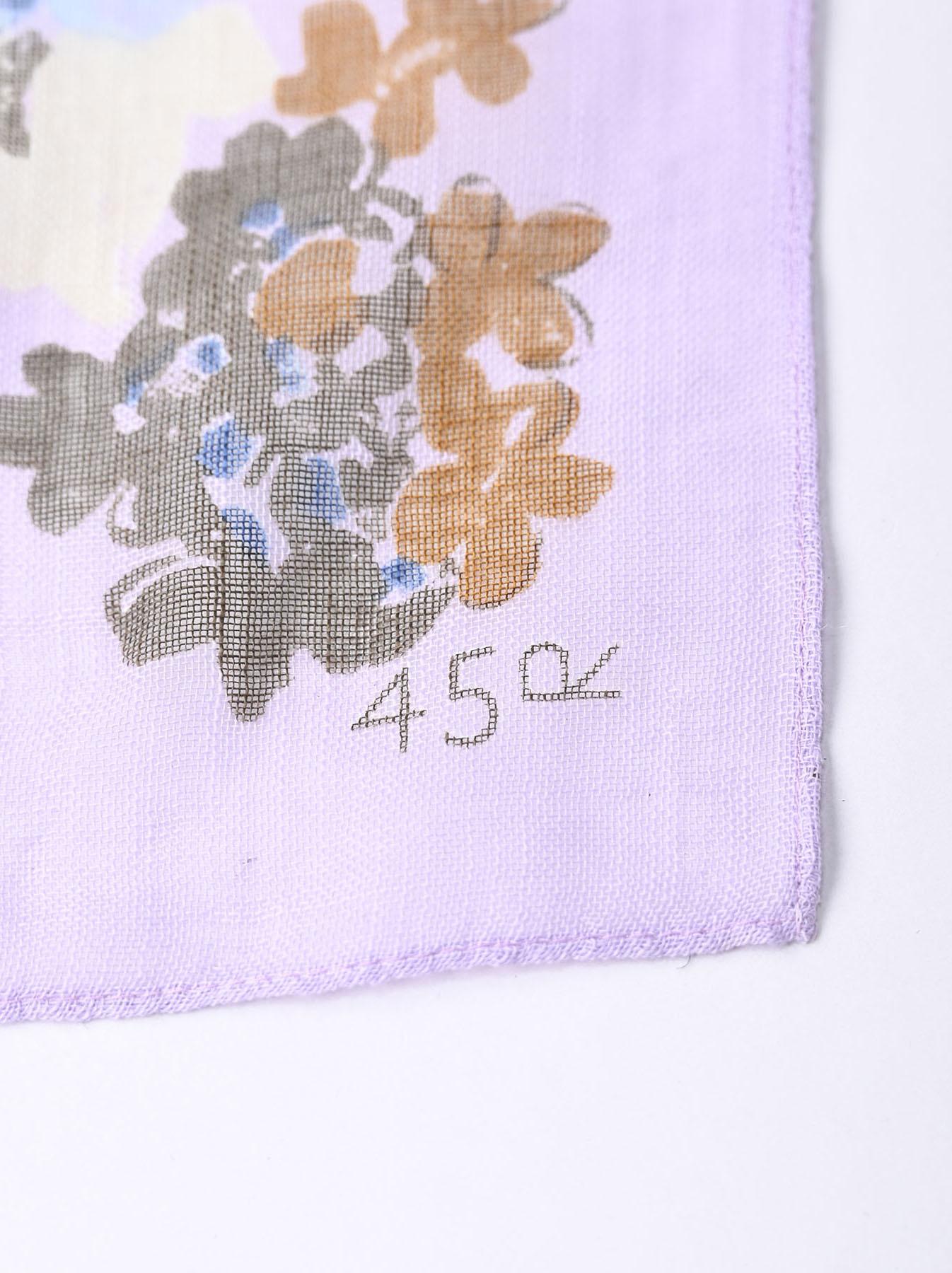 Gauze Flower Print Bandana (0421)-5