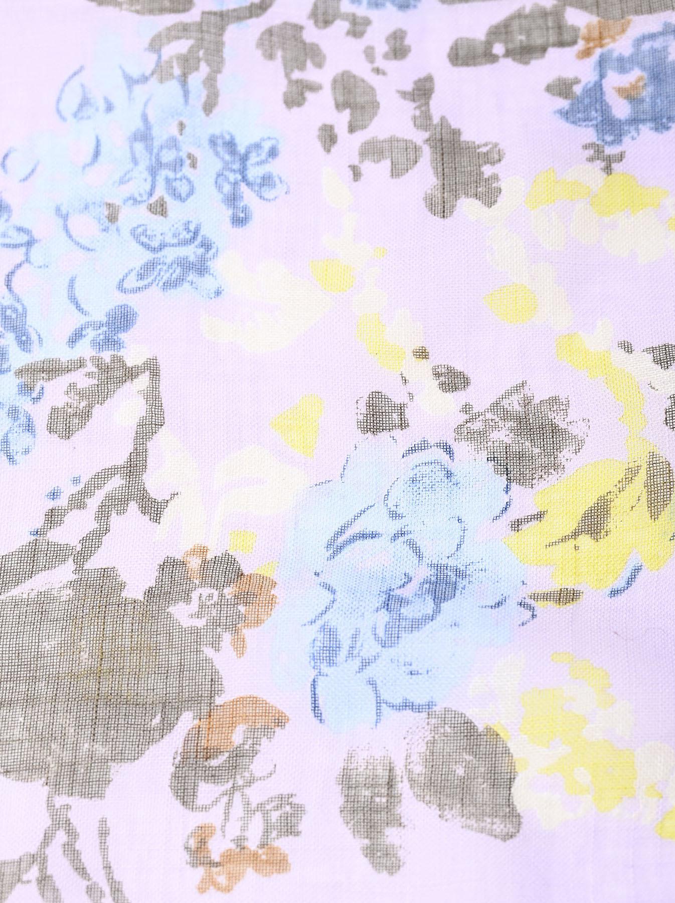Gauze Flower Print Bandana (0421)-6