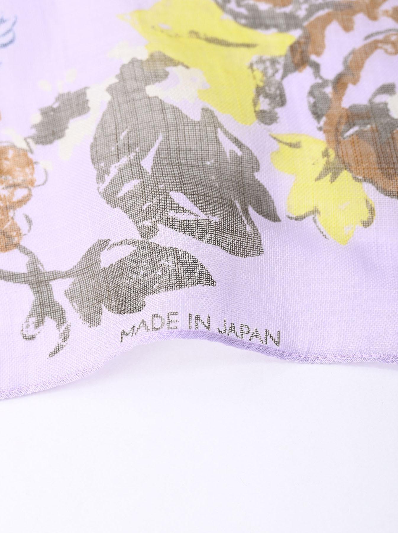 Gauze Flower Print Bandana (0421)-7