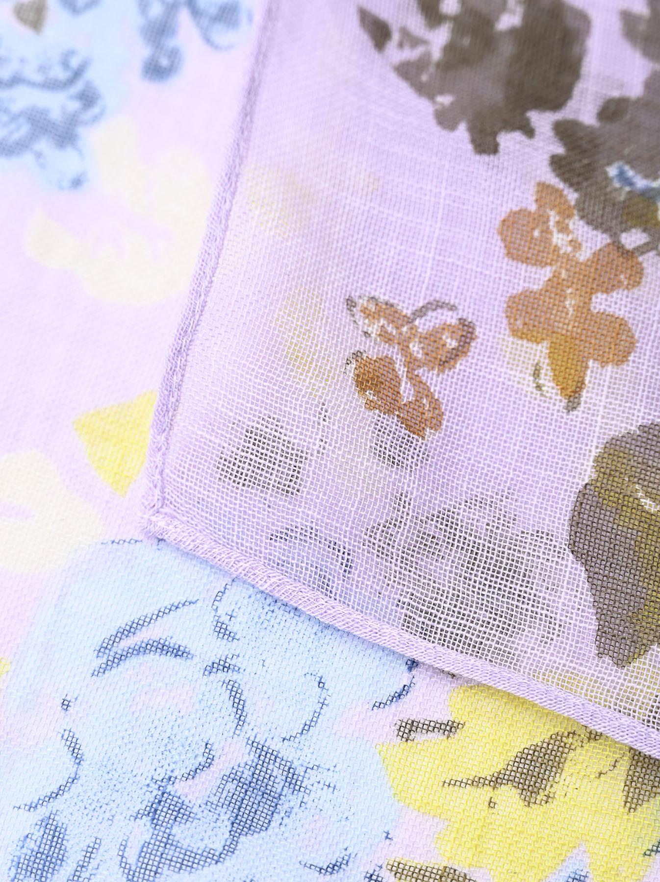 Gauze Flower Print Bandana (0421)-8