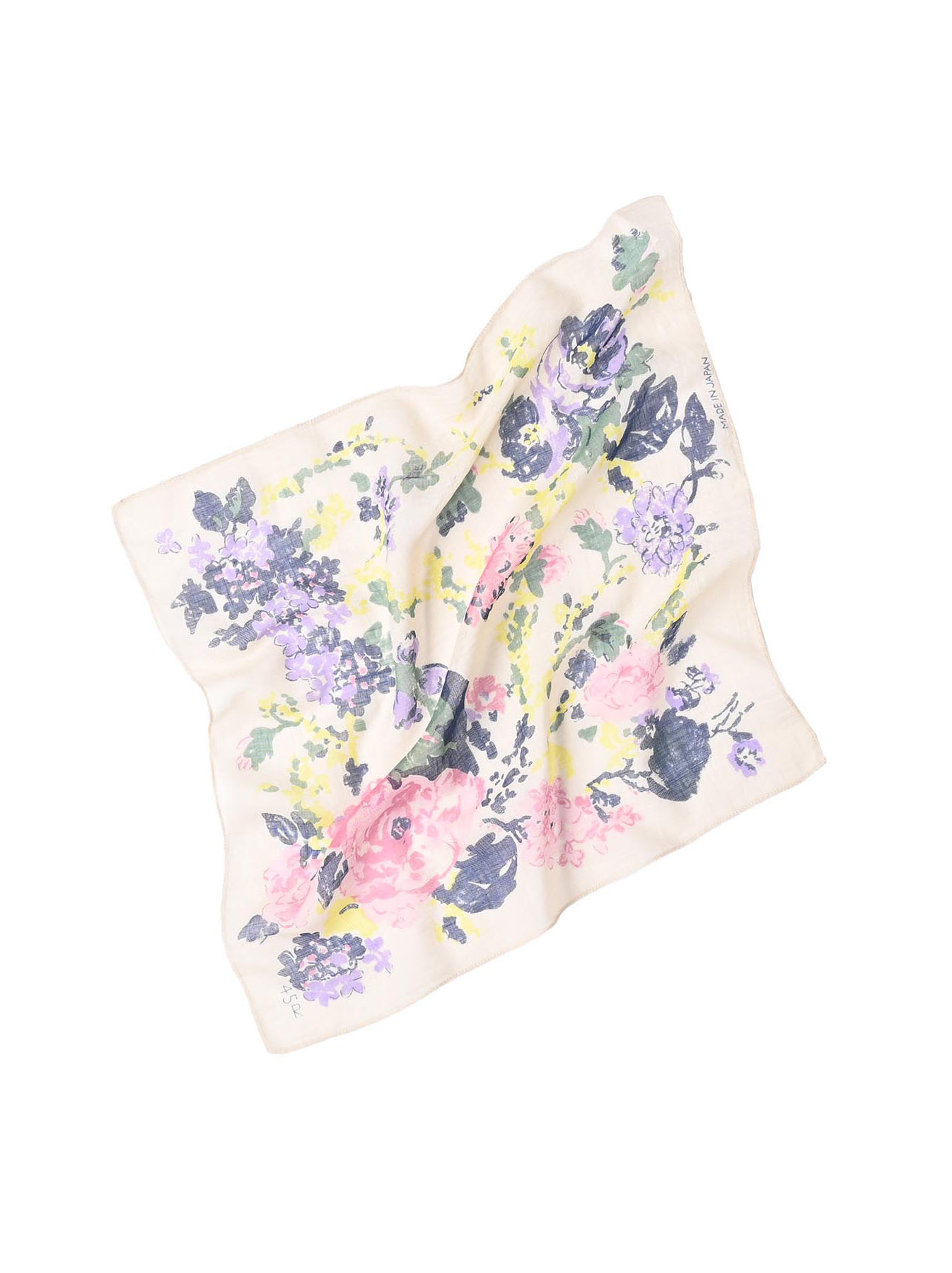 Gauze Flower Print Bandana (0421)-4