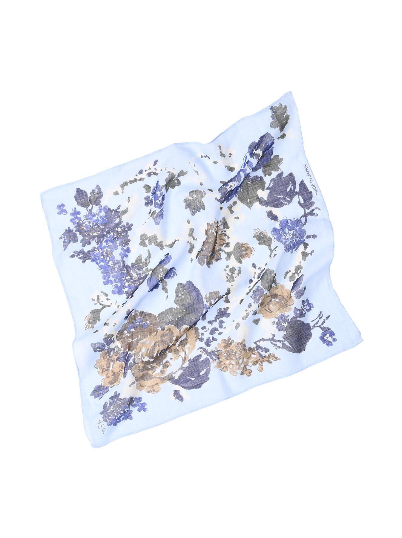 Gauze Flower Print Bandana (0421)-3