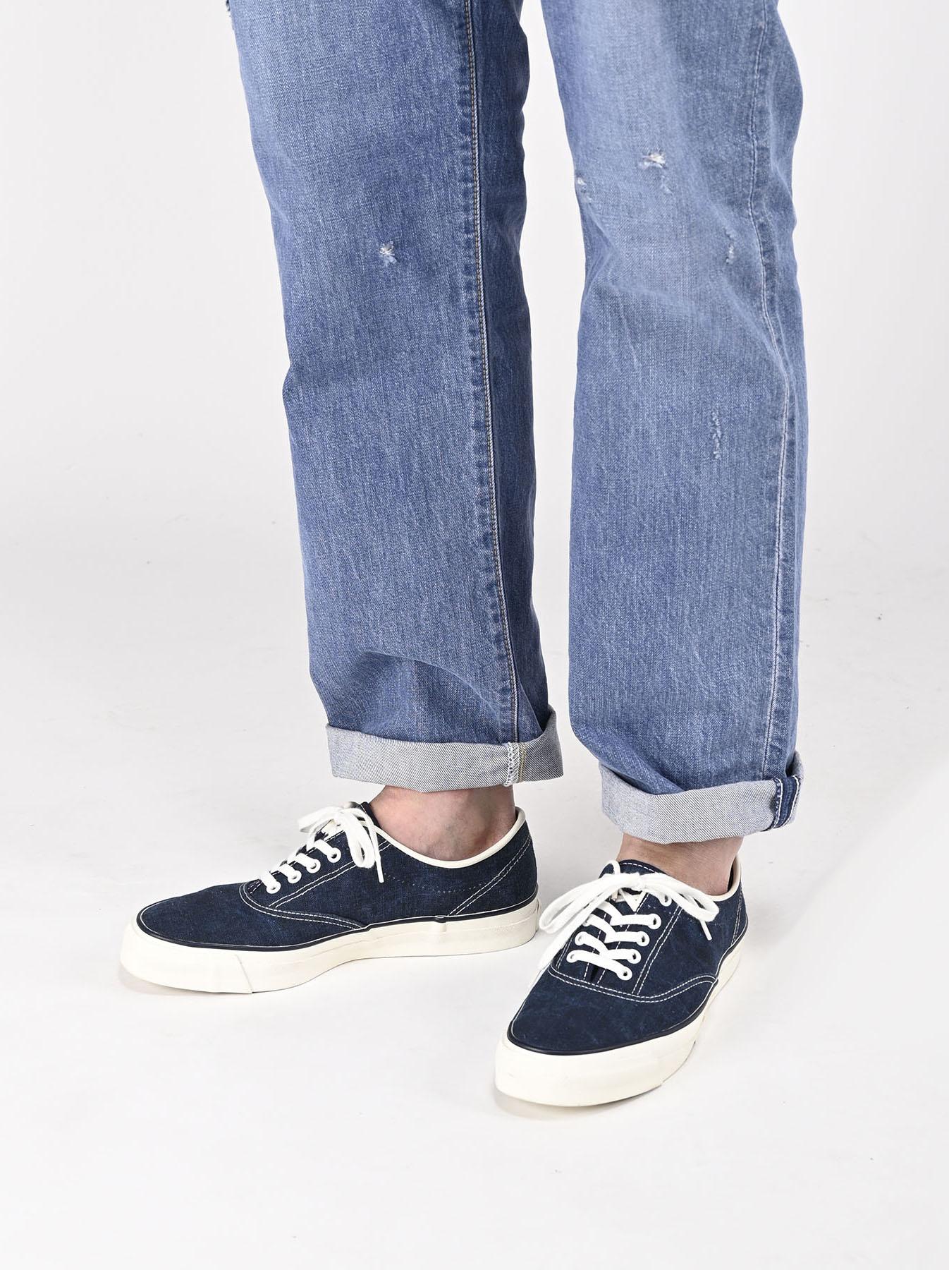 Indigo Linen Duck Sneaker size 5.5-7.5 UK-2