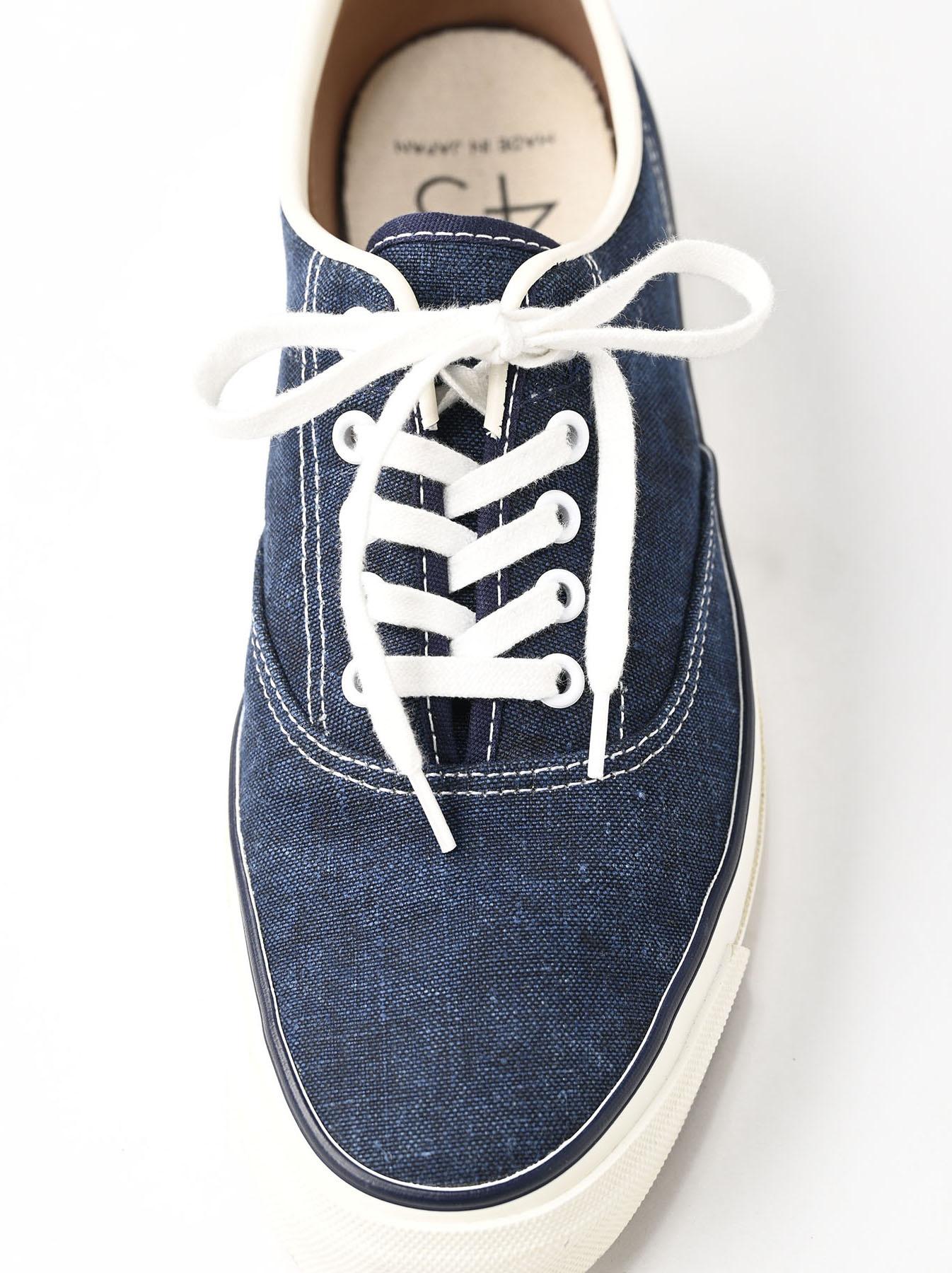 Indigo Linen Duck Sneaker size 5.5-7.5 UK-3