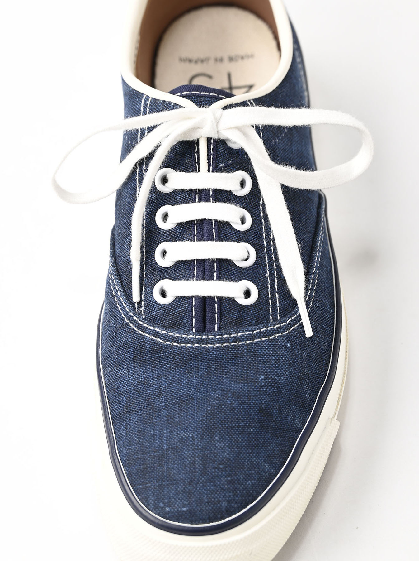 Indigo Linen Duck Sneaker size 5.5-7.5 UK-4