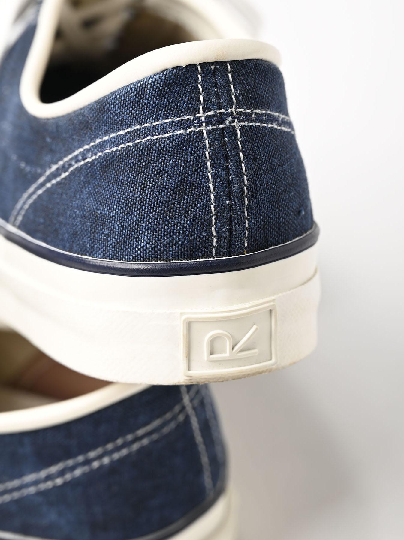 Indigo Linen Duck Sneaker size 5.5-7.5 UK-10