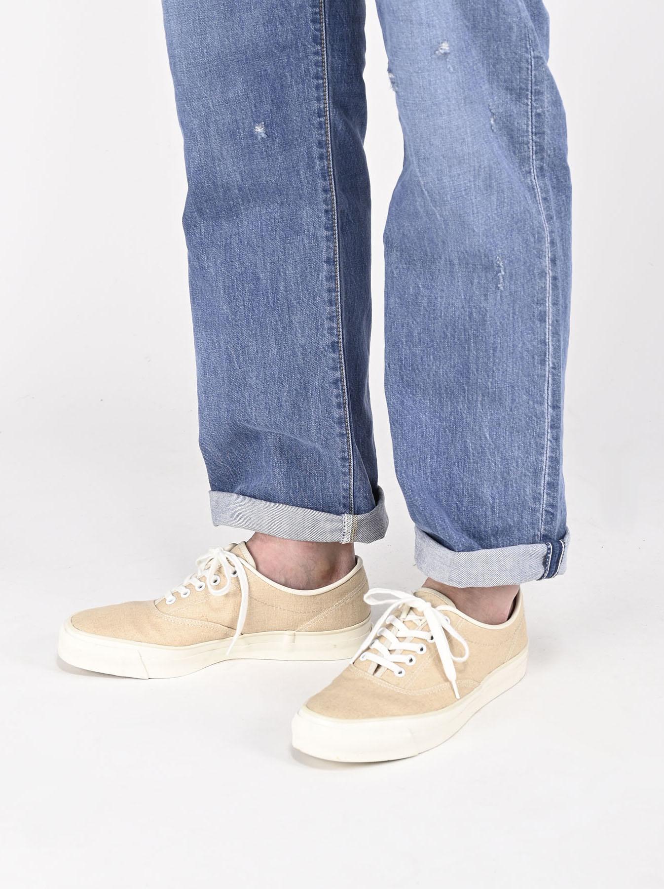 Linen Duck Sneaker Beige (0421)-2