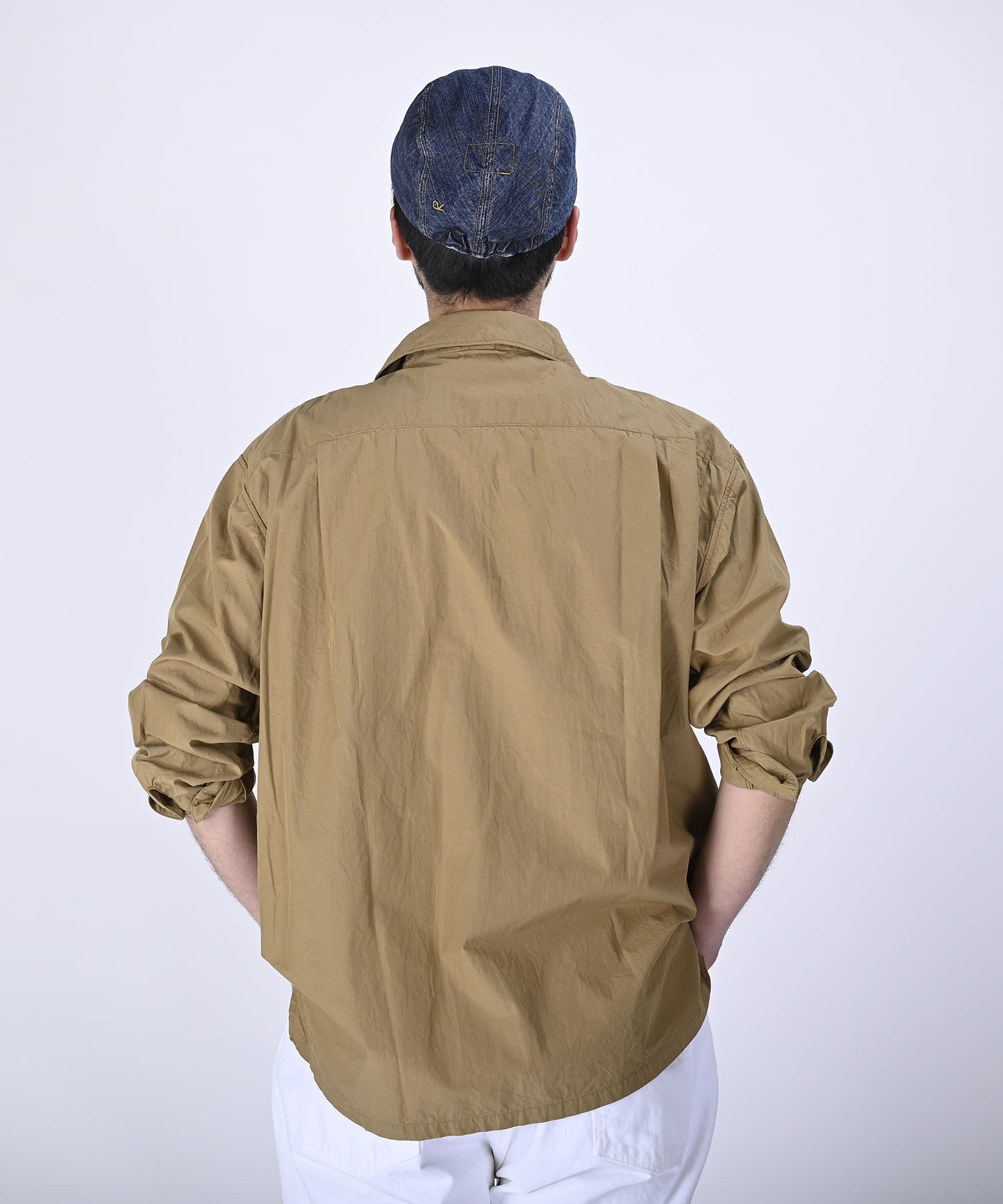 Damp Yarn Dyed 908 Ocean Pullover Shirt (0421)-5