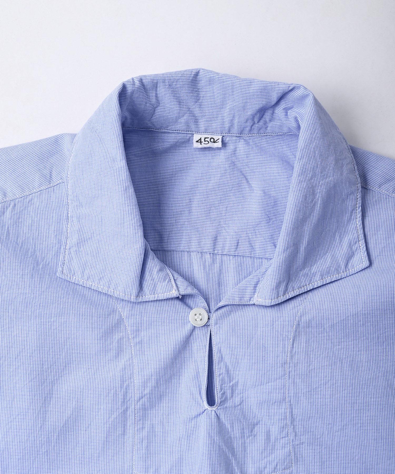 Damp Yarn Dyed 908 Ocean Pullover Shirt (0421)-9