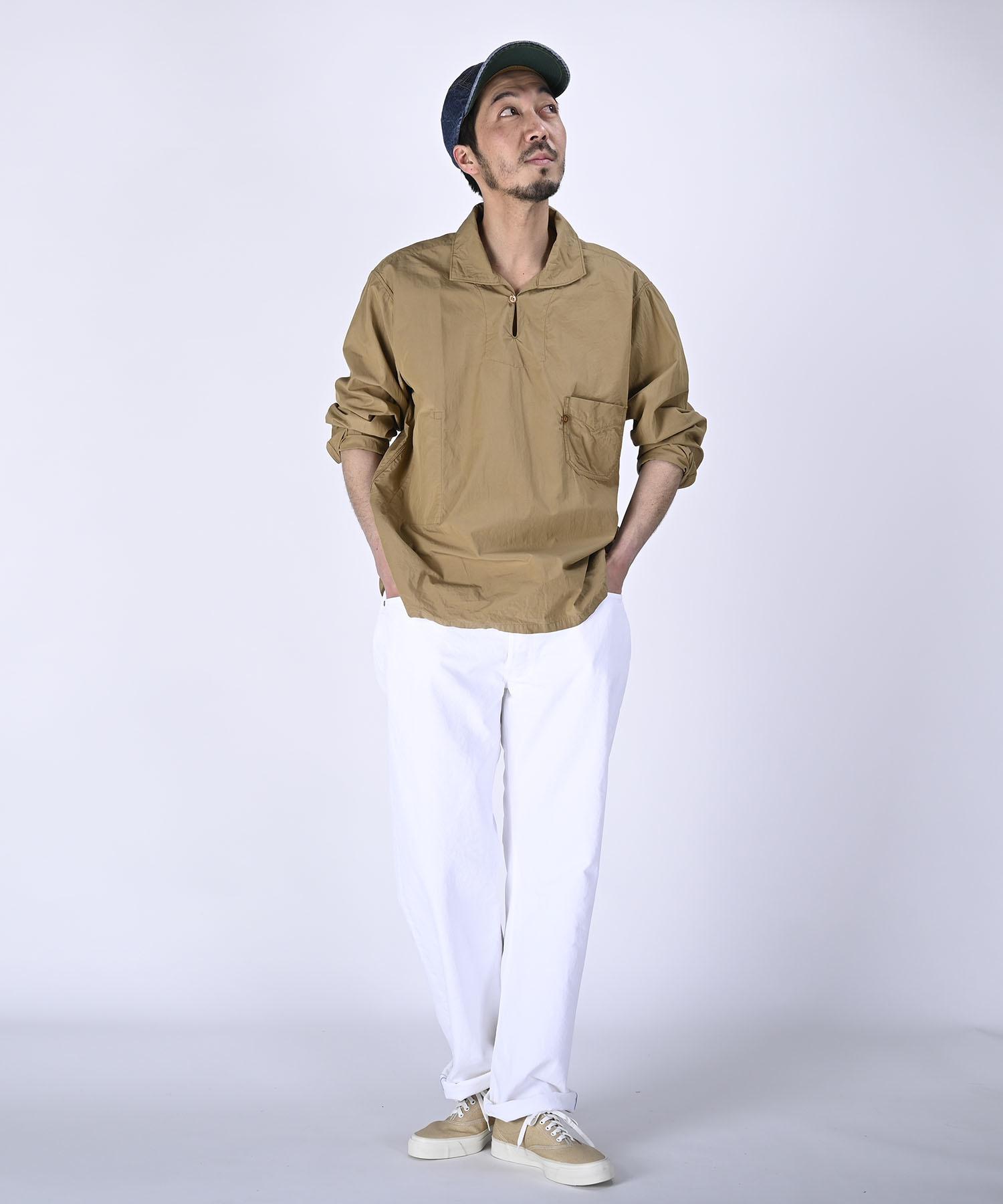 Damp Yarn Dyed 908 Ocean Pullover Shirt (0421)-2