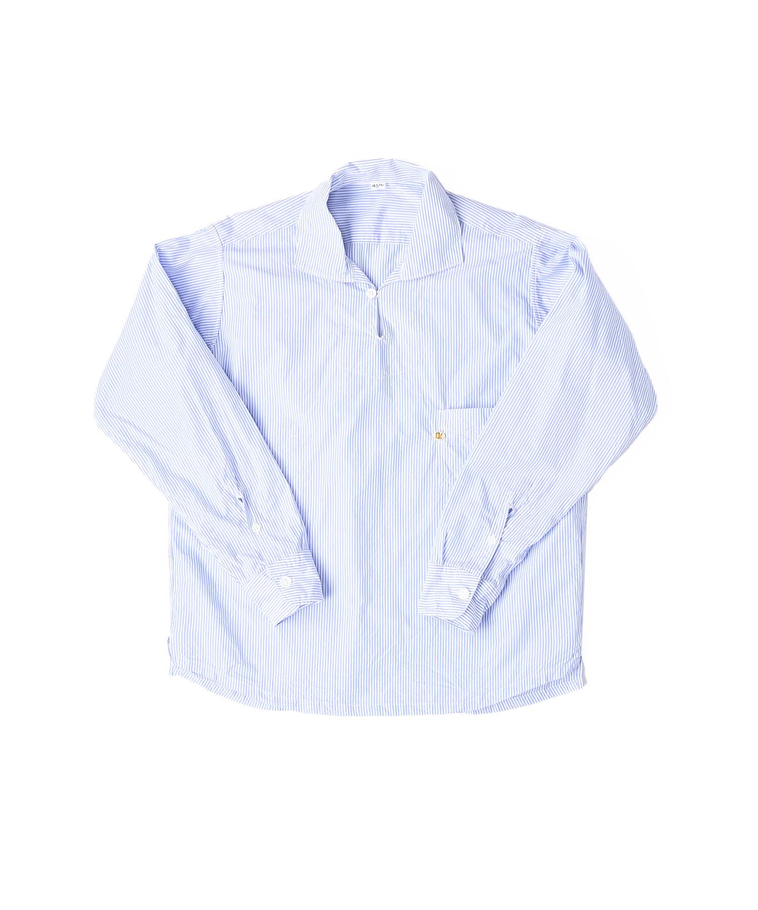 Damp Yarn Dyed 908 Ocean Pullover Shirt (0421)-6