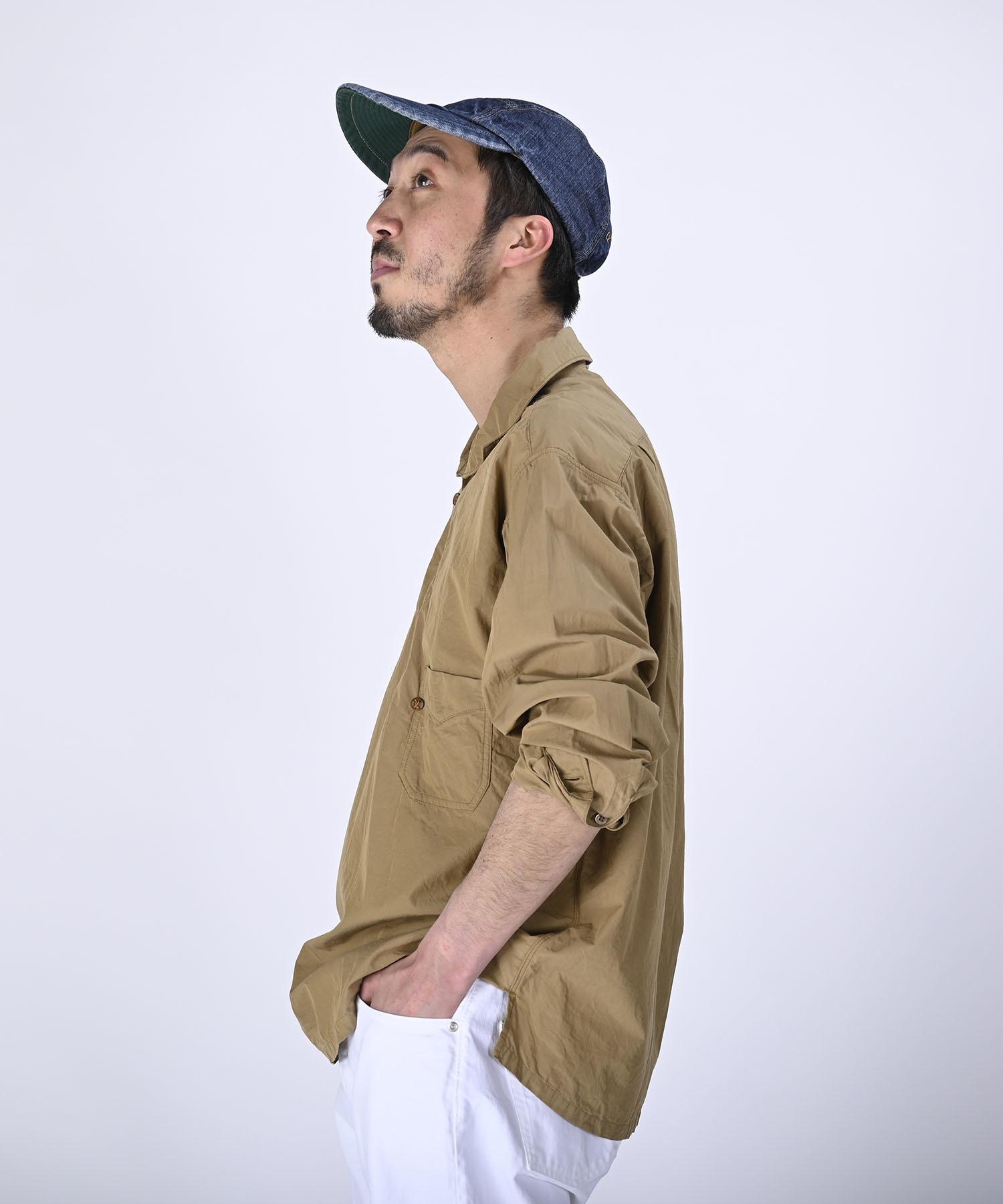 Damp Yarn Dyed 908 Ocean Pullover Shirt (0421)-4