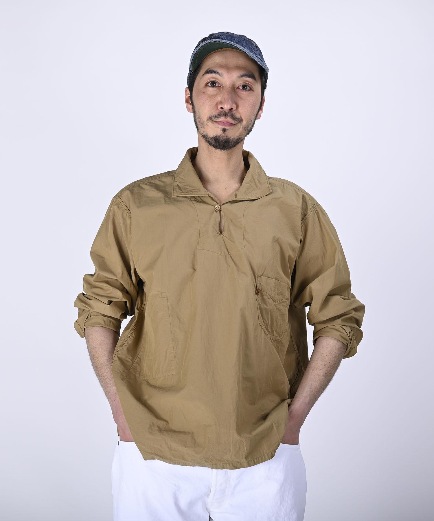 Damp Yarn Dyed 908 Ocean Pullover Shirt (0421)-3