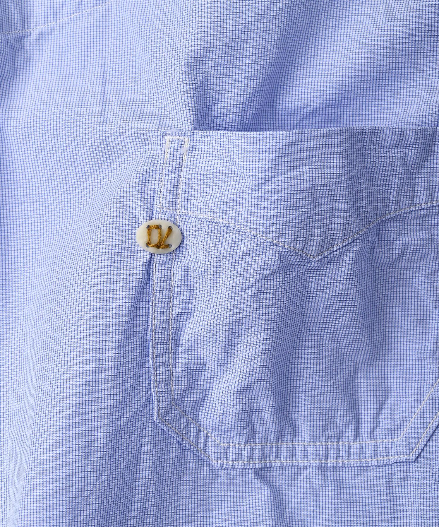 Damp Yarn Dyed 908 Ocean Pullover Shirt (0421)-11