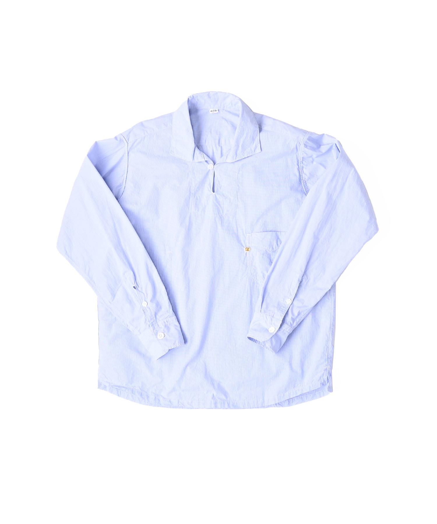 Damp Yarn Dyed 908 Ocean Pullover Shirt (0421)-1