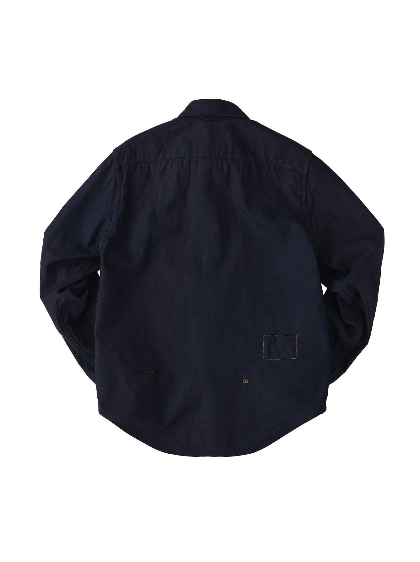 Indigo Double Woven 908 Loafer Shirt (0421)-6