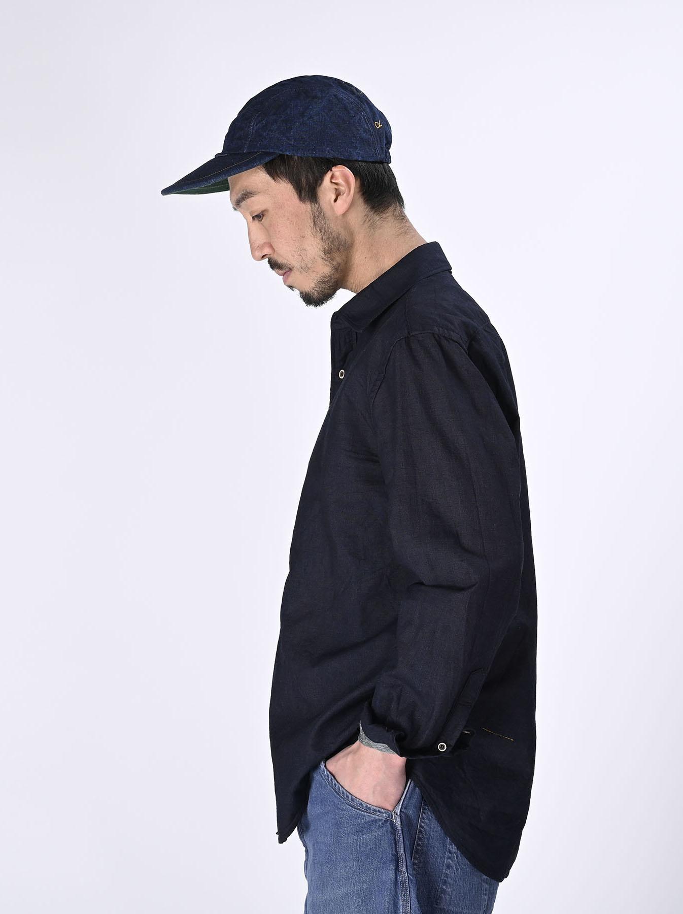 Indigo Double Woven 908 Loafer Shirt (0421)-4