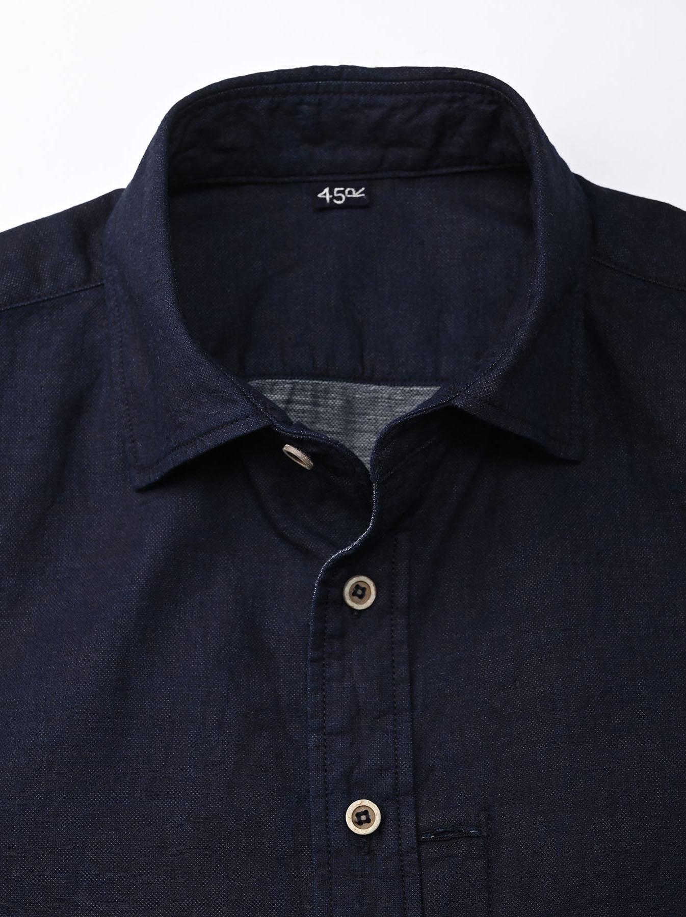Indigo Double Woven 908 Loafer Shirt (0421)-7
