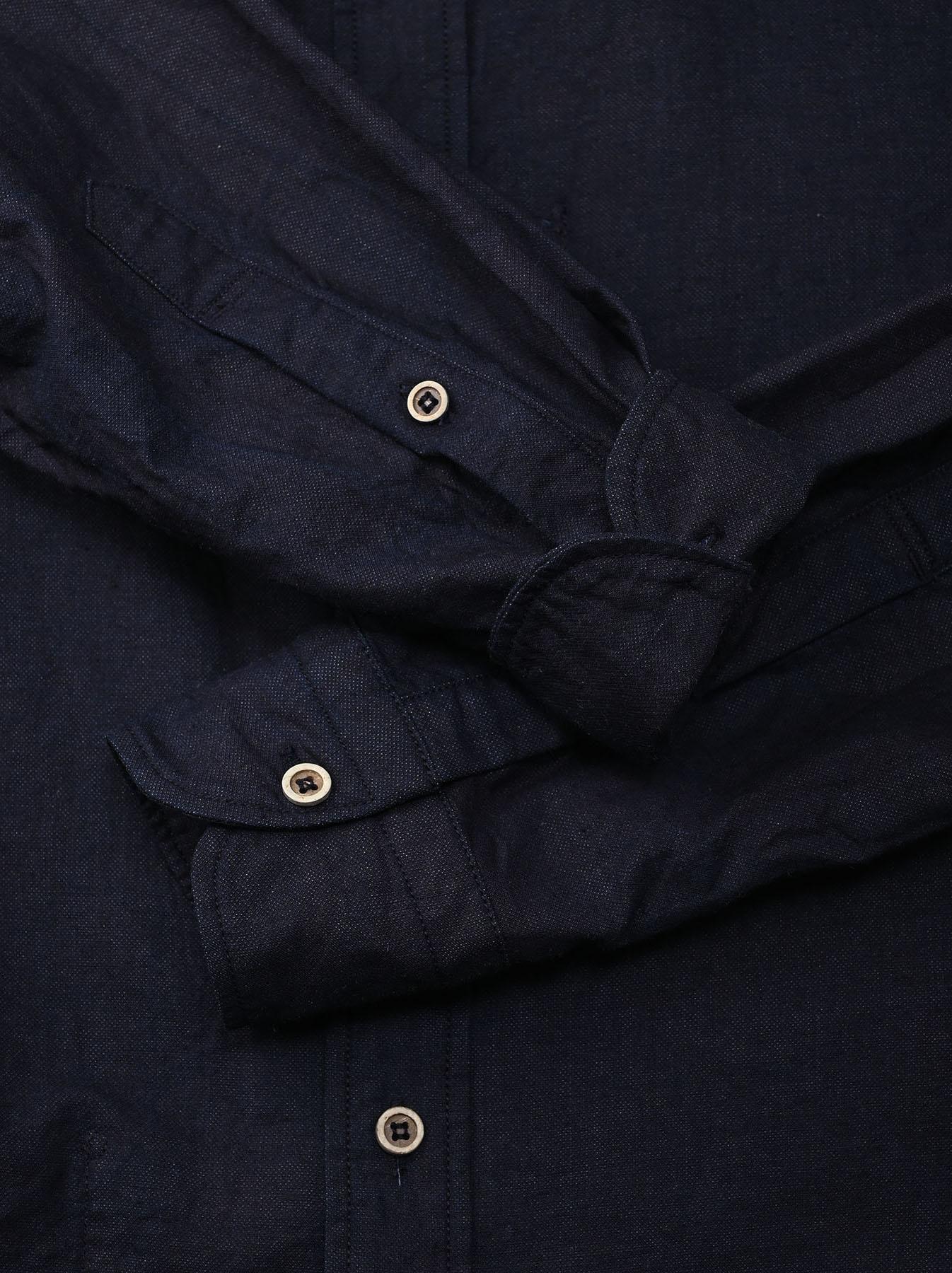 Indigo Double Woven 908 Loafer Shirt (0421)-9
