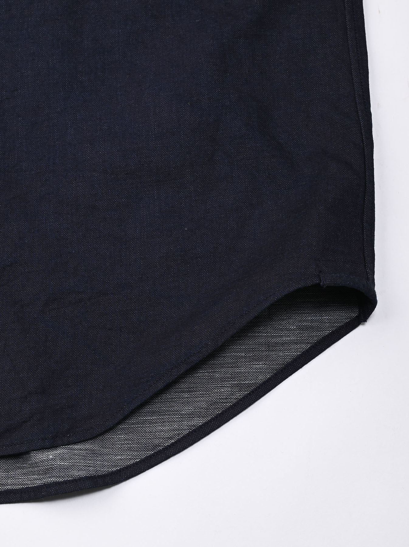 Indigo Double Woven 908 Loafer Shirt (0421)-10