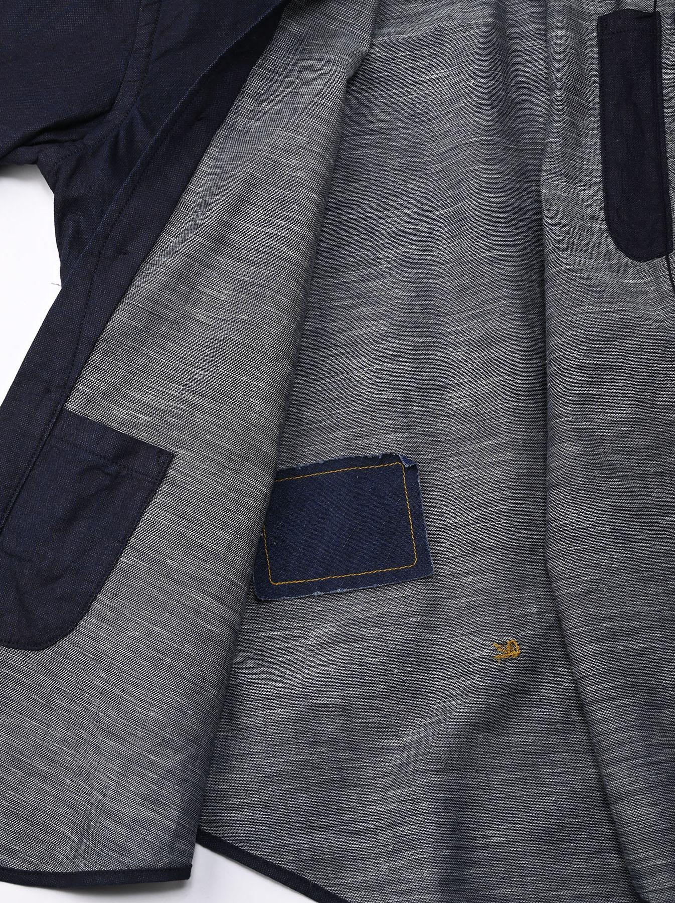 Indigo Double Woven 908 Loafer Shirt (0421)-11