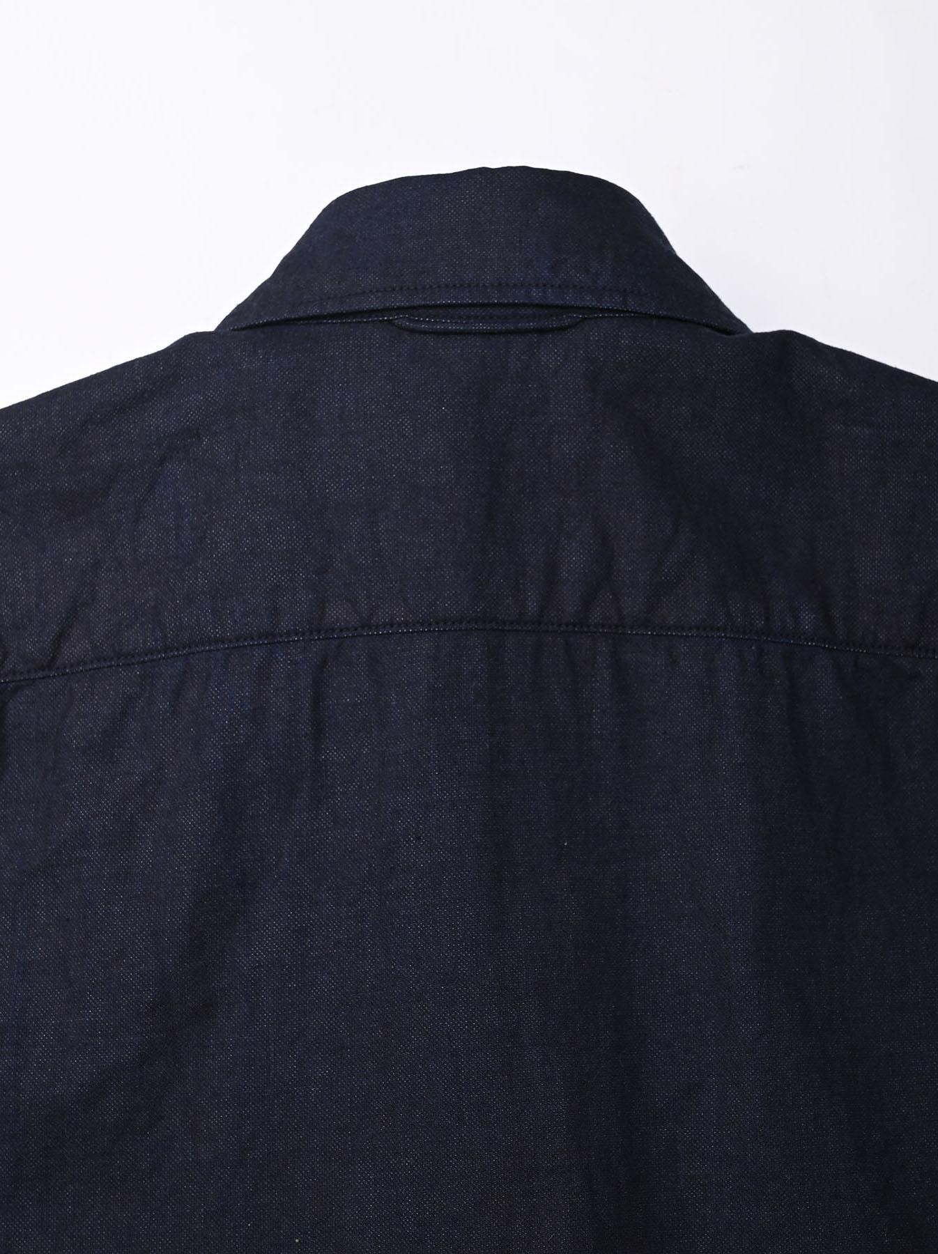 Indigo Double Woven 908 Loafer Shirt (0421)-8
