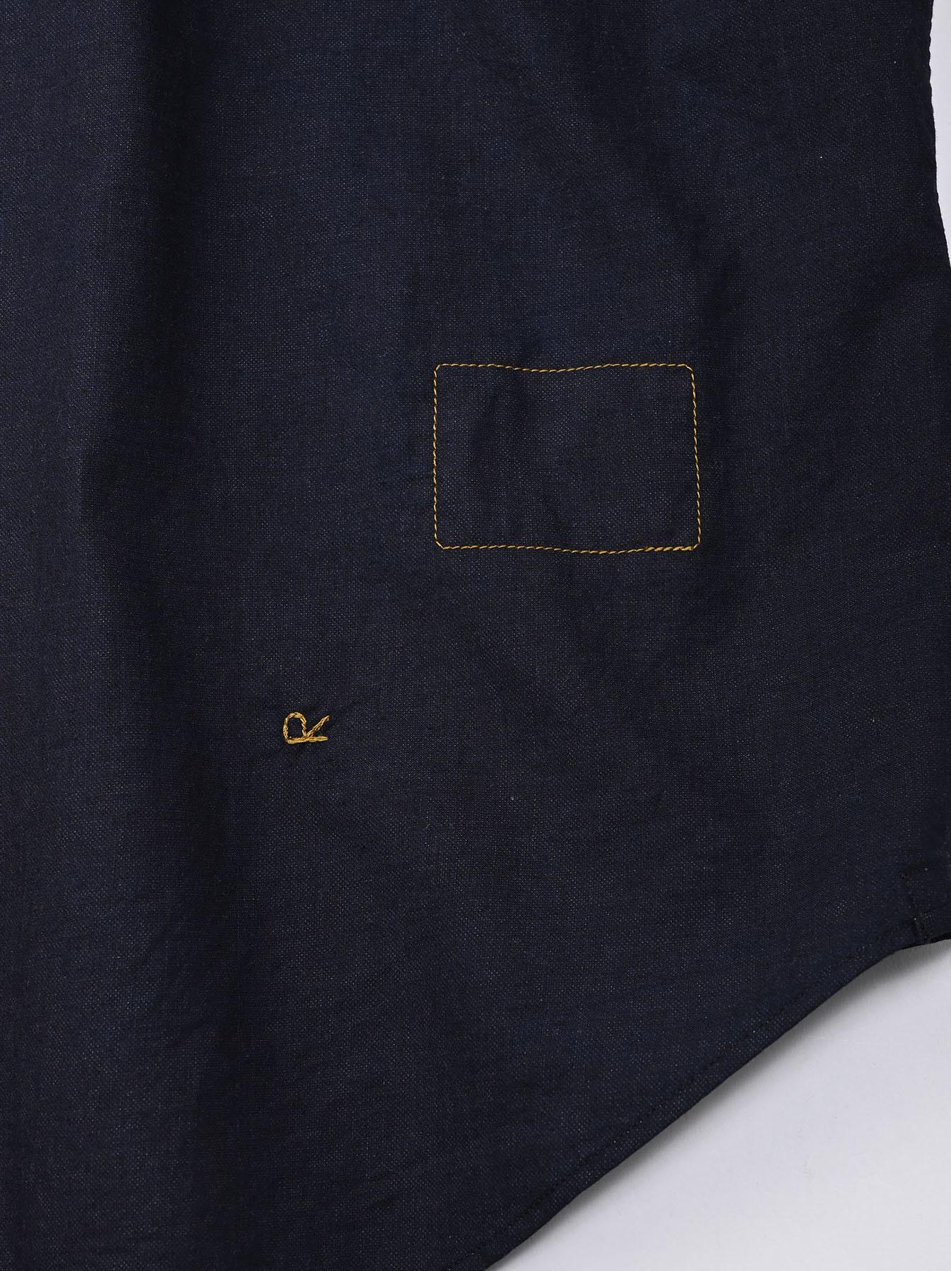 Indigo Double Woven 908 Loafer Shirt (0421)-12