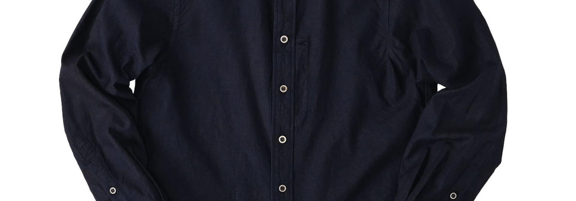 Indigo Double Woven 908 Loafer Shirt (0421)