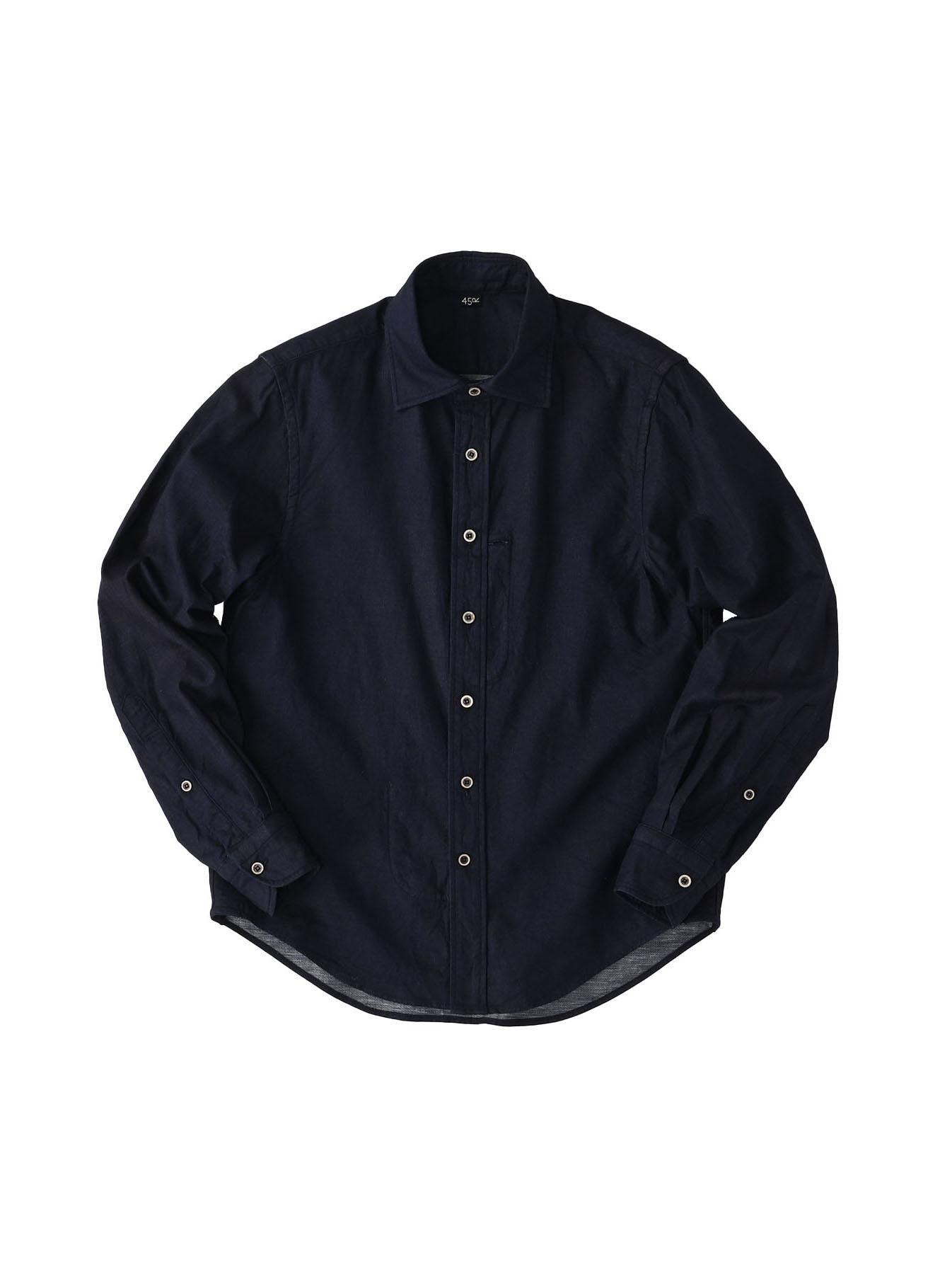 Indigo Double Woven 908 Loafer Shirt (0421)-1