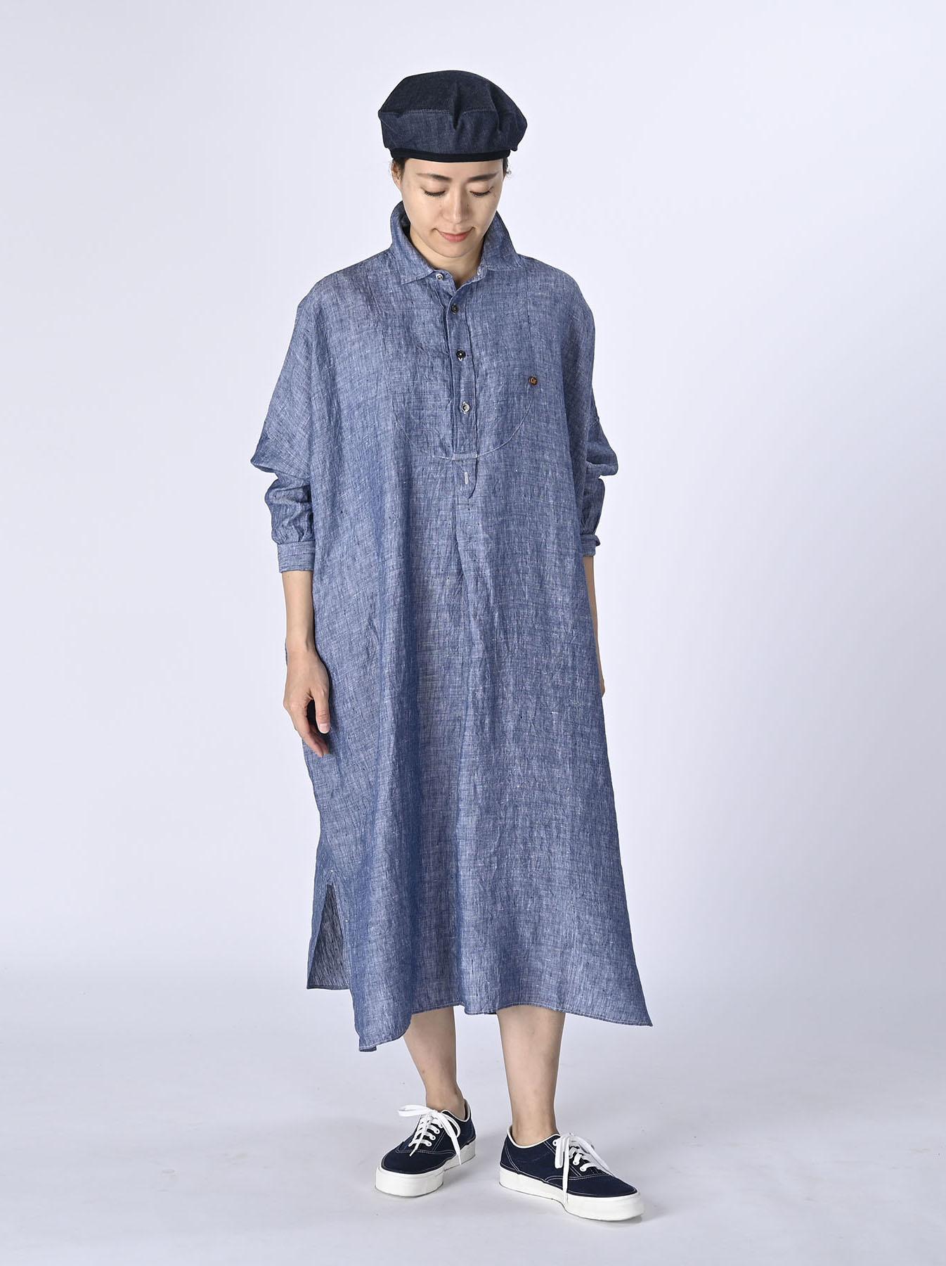 Indian Linen Big Dress (0421)-2