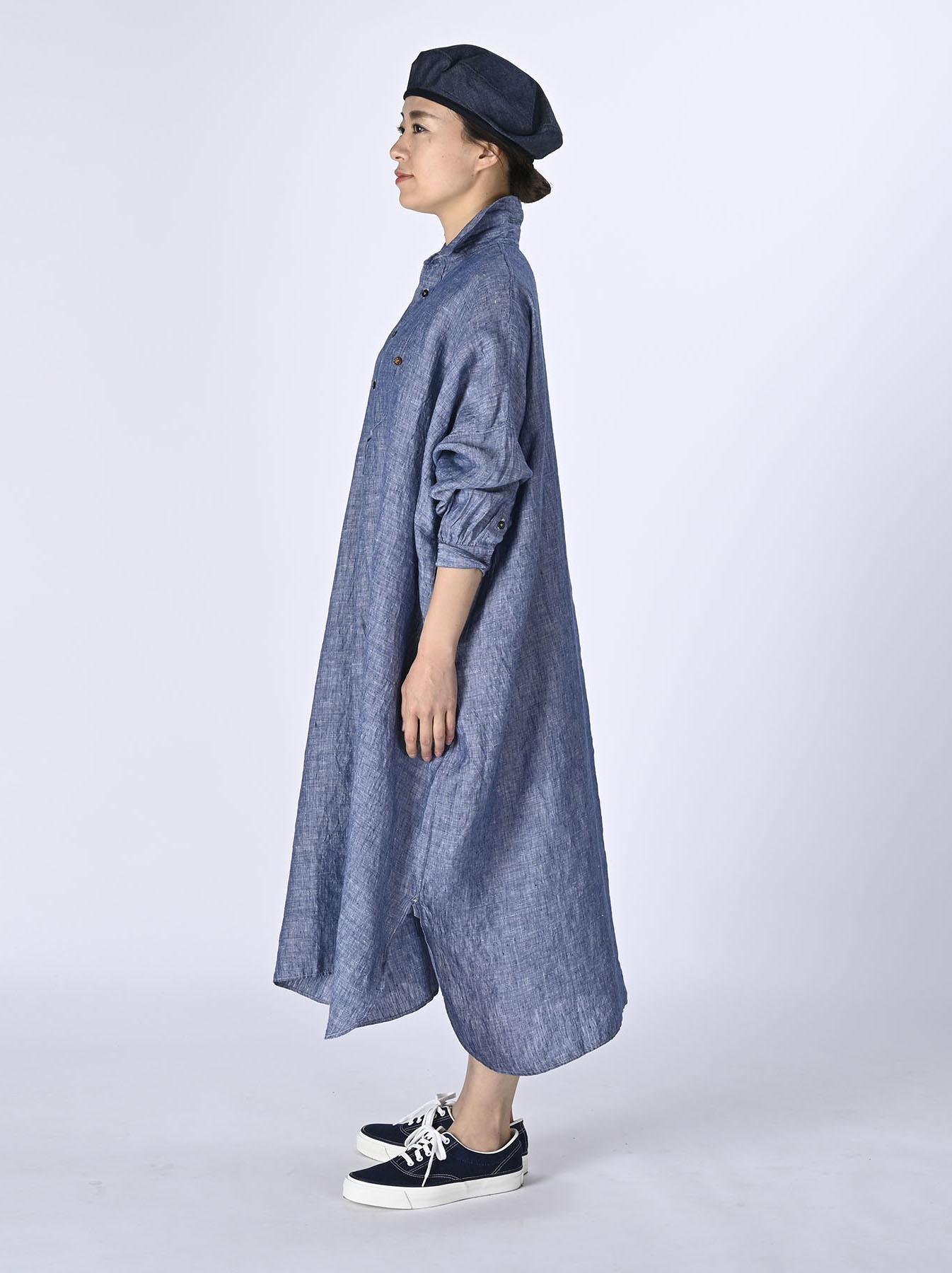 Indian Linen Big Dress (0421)-3