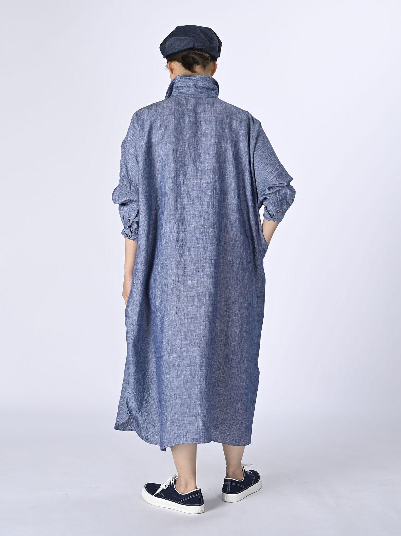 Indian Linen Big Dress (0421)-4