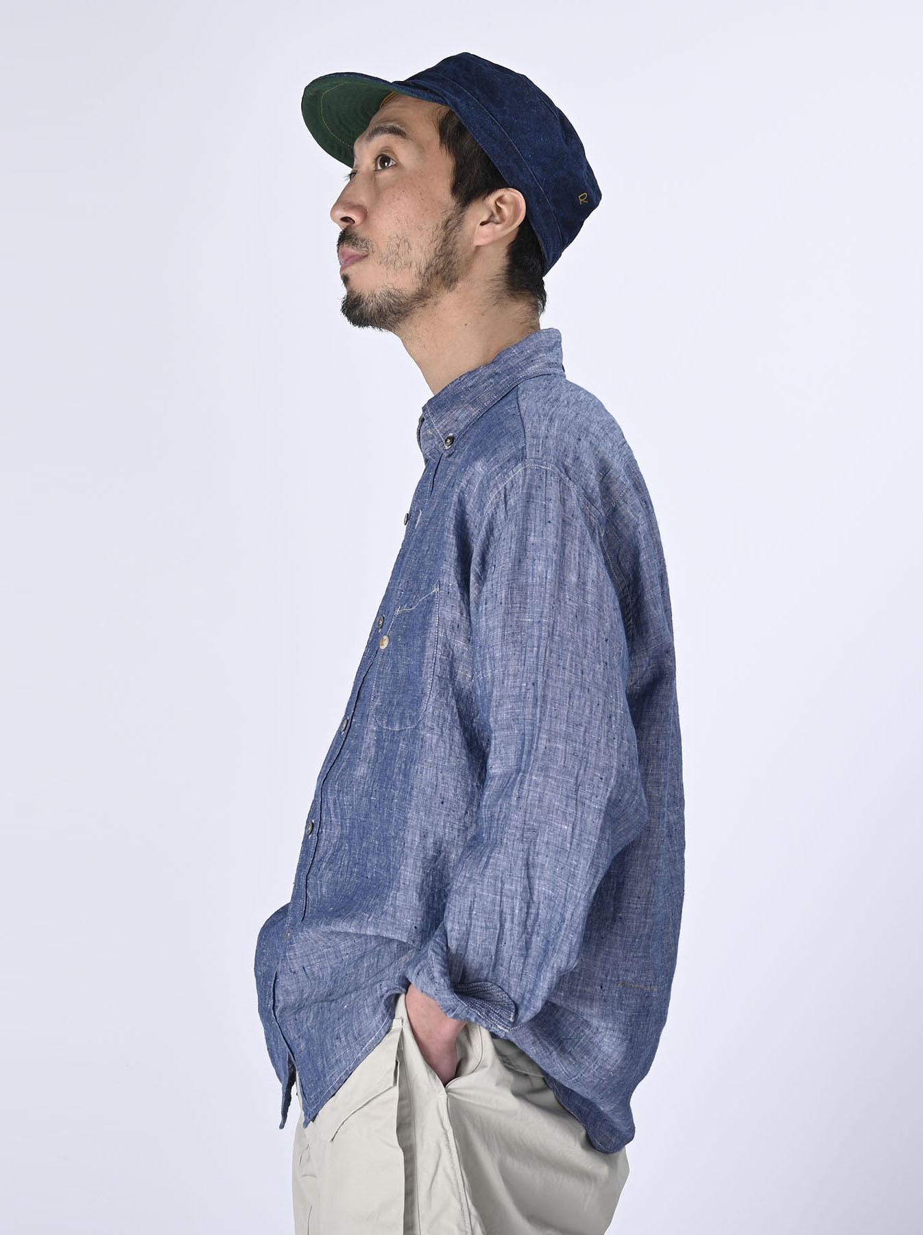 Indian Linen 908 Ocean Button Down Shirt (0421)-4
