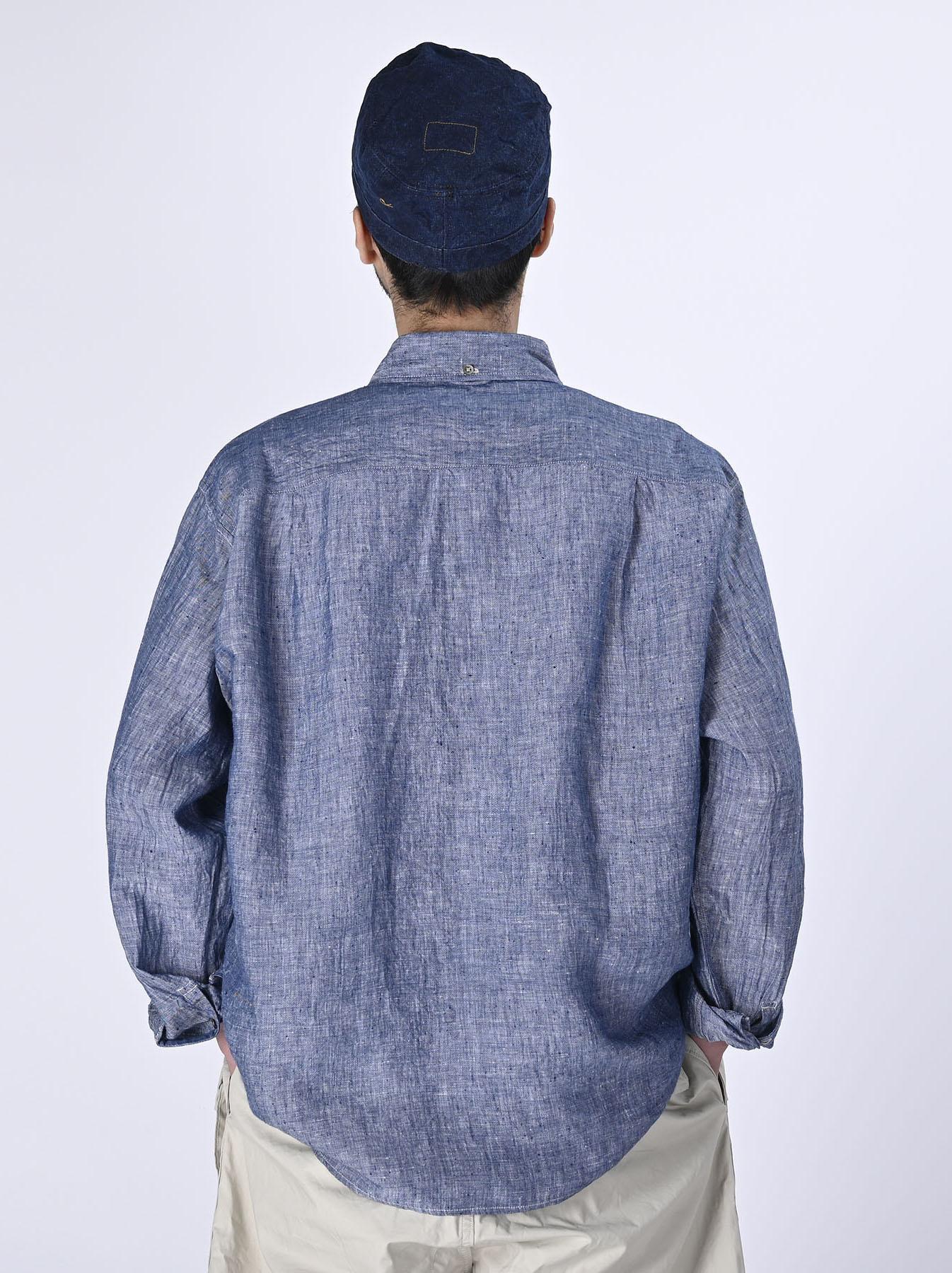 Indian Linen 908 Ocean Button Down Shirt (0421)-5