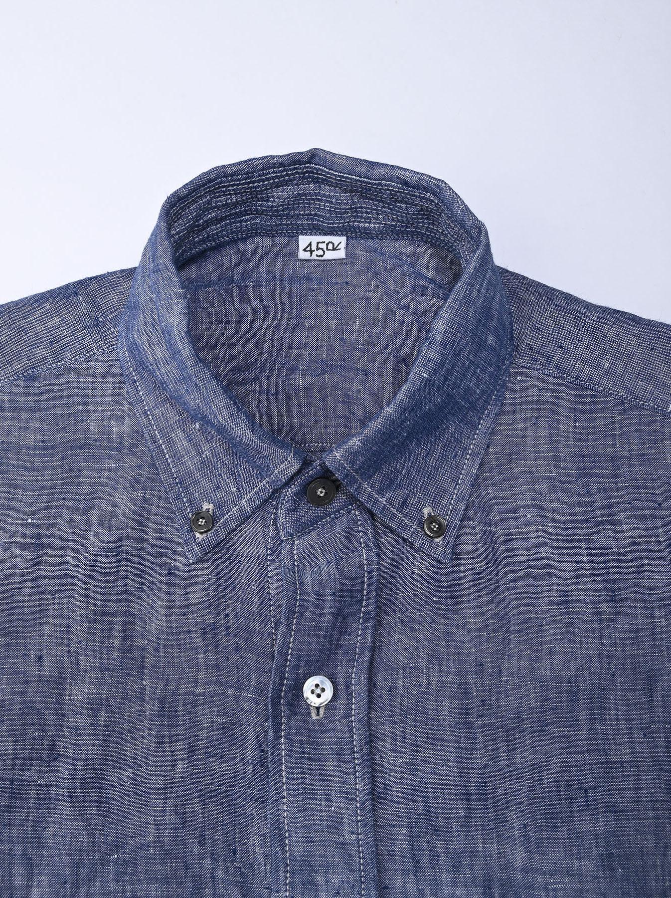 Indian Linen 908 Ocean Button Down Shirt (0421)-7