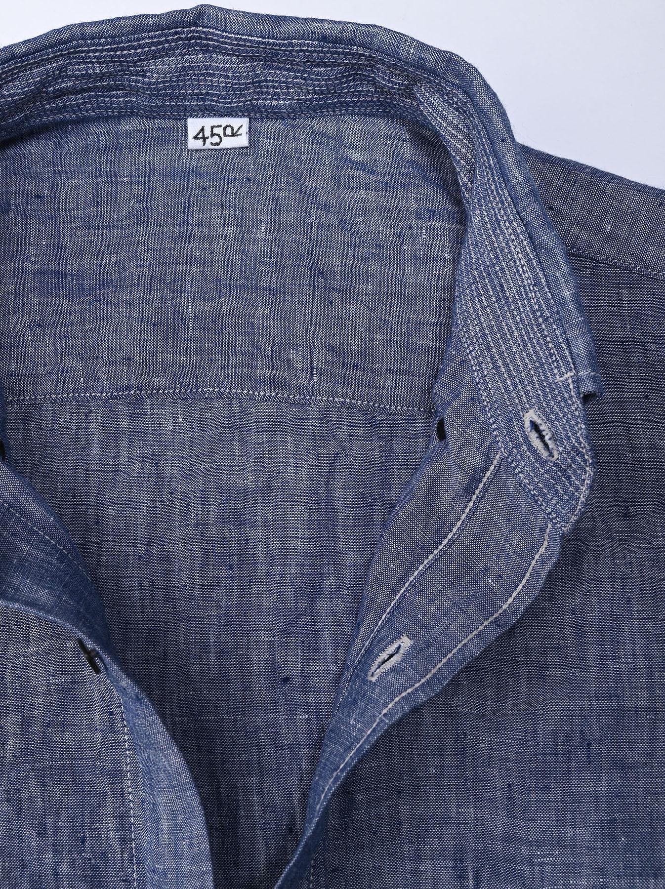 Indian Linen 908 Ocean Button Down Shirt (0421)-8