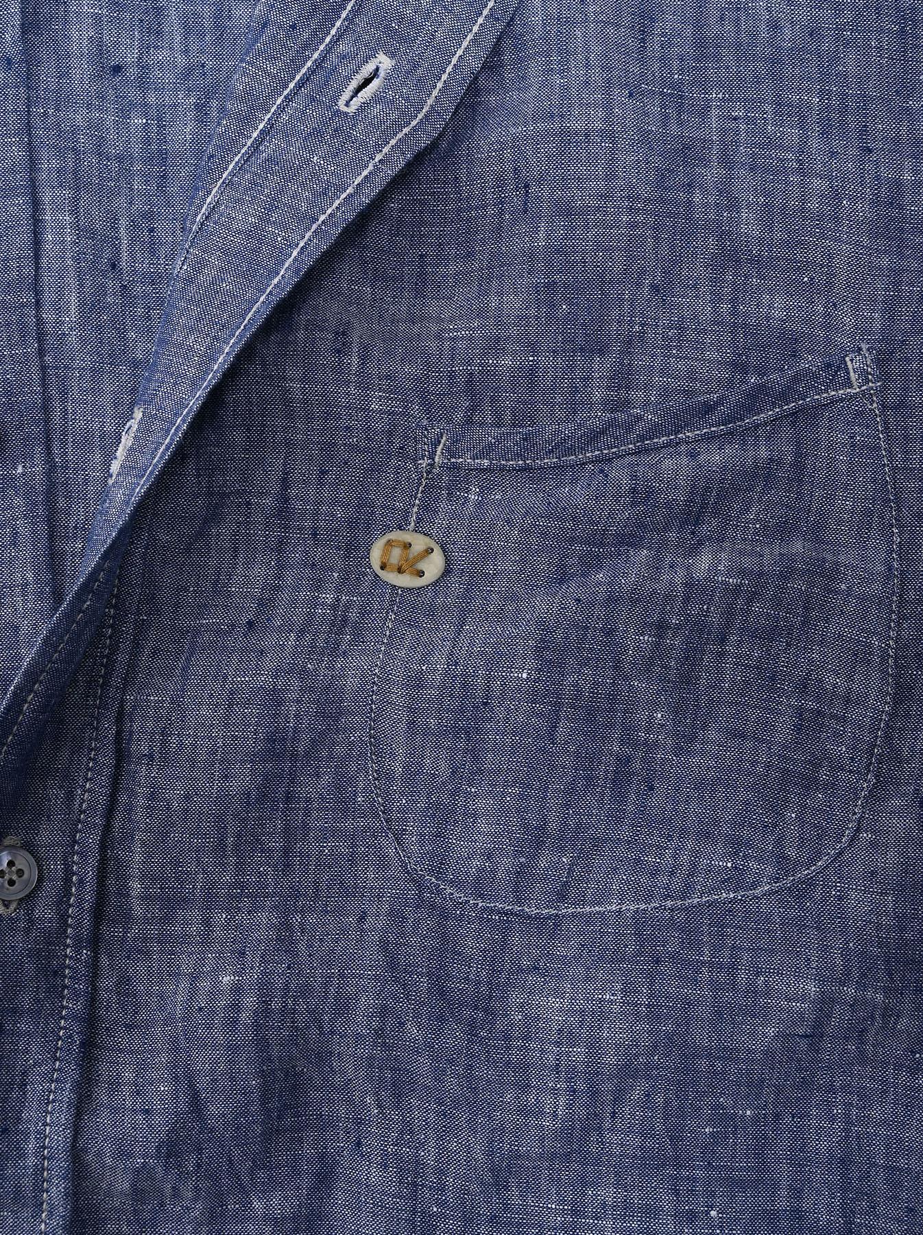 Indian Linen 908 Ocean Button Down Shirt (0421)-9